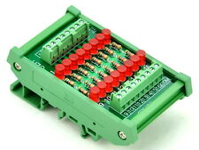 DIN Rail Mount 16 Channel Common Cathode LED Indicator Gate Module, 12V Version