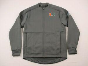 Miami Hurricanes adidas Jacket Men's Dark Gray Poly NEW Multiple Sizes