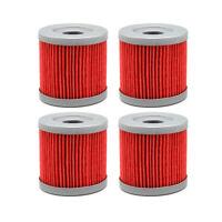 4X Oil Filters For SUZUKI DRZ400 E/S/SM LTZ400 KAWASAKI KFX400 ARCTIC CAT DVX400