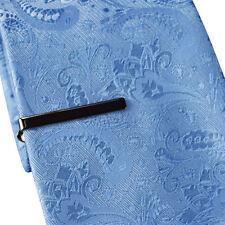 HOMMES & garçons GRIS Pince à cravate - 4cm fine - en acier inoxydable noir pins