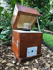 Stingless Native Bee Hive Honey Jar Design With Roof | Stained | Mini OATH Hive
