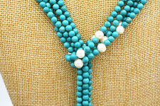 "white cultured Beautiful 6mm turquoise  pearl necklace 50 ""AAA"