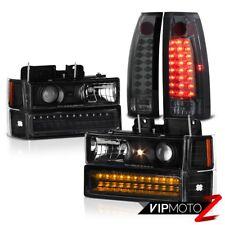 SMOKE DRL LED Bumper Headlights Tail Lamps 94-98 Chevy C10 C/K 1500 2500 3500