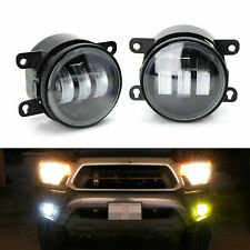 White/Yellow LED Fog Light Kit Angel Eye Dual Color 20W For Honda Nissan Subaru