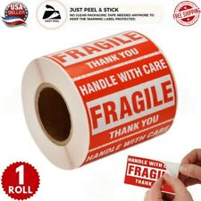 Fragile Stickers 1 Roll 500 2x3 Fragile Label Sticker Handle With Care Mailing