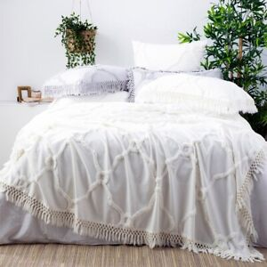 Park Avenue Moroccan Cotton Vintage washed Tufted Bed Cover Coverlet set-Bright