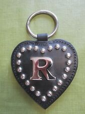 Initial (R) Harness Center Heart - Line Drop Stainless