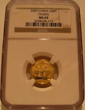 China 2009 Gold 1/10 oz Panda 50 Yuan NGC MS-69