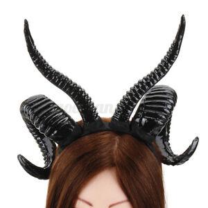Demon Devil Horns Goat Horn Headband Halloween Cosplay Costume Hair Accessories