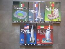 LOTE 5 PUZZLES 3D CUBIC FUN MONUMENTOS DEL MUNDO