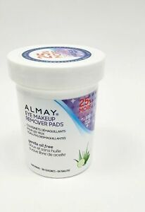 Almay Gentle Oil Free Eye Makeup Remover Pads (100 Pads) Hypoallergenic ~ NEW!!!