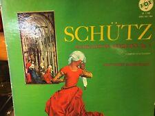 LP  SCHUTZ : GERMAN REQUIEM  Op.7   Great Bifold Cover with information/scores