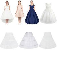 Girl Petticoat Flower Girls Wedding Party 3-Hoop Underskirt Dress Slips Caroline