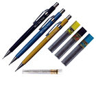 Pentel Sharp Mechanical Drafting Pencil Set P200 Series With Erasers & Lead HB