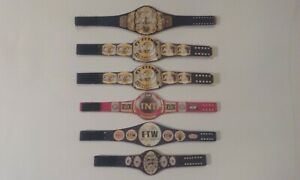 6 Custom Unofficial Wrestling Figure Belts AEW WCW WWE ROH IMPACT NXT NJPW 2020