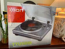 ION TTUSB10 USB Turntable Vinyl Premium Digital LP Conversion System BRAND NEW