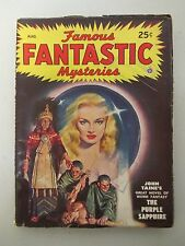 """Famous Fantastic Mysteries"" Vintage Magazine / August 1948 / Original Fantasy"