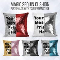 Personalised Sequin Cushion | Magic Mermiad Text Reveal | Pillow Case & Insert