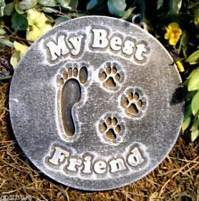 """Paw Print Mold dog cat reusable casting mould  10"""" x 3/4"""" thick"""