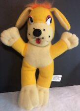 "9"" Vintage Dog Stuffed Animal Plush Carnival Toy? Red Tongue  s2- free shipping"