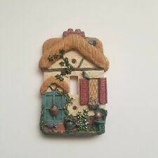 Decorative Light Switch Cover Little House Entrance