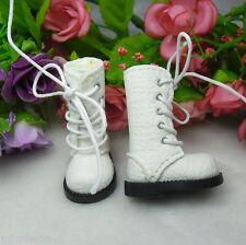 Mimi Collection BLEUETTE 1/6 bjd Doll Shoes 4cm Long Denim Boots White