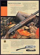 2002 BENELLI Montefeltro Shotgun Photo AD Collectible Hunting Gun Advertising