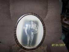 Vintage Oval Frames convex Glass with one man and one woman