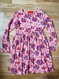 NWT Hanna Andersson PINK FLORAL Day Play DAYPLAY LONG SLEEVE DRESS  150 12
