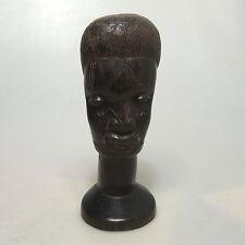 Bantu Kopf alte afrikanische Holzschnitzerei Ebenholz ca.15 x 8 cm
