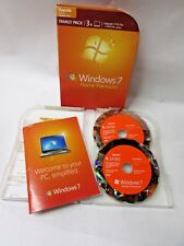 Microsoft Windows 7 Home Premium Upgrade 3 User Family Pack 32 / 64 Bit
