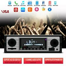 Bluetooth 4-CH Car FM Radio MP3 Player USB/SD/AUX Classic Stereo Audio Receiver