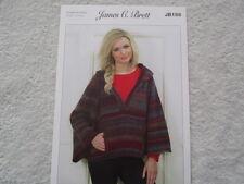 James C Brett - Ladies Cape Double Knitting Pattern - JB159