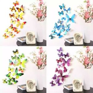 12PCS/Set 3D Butterfly Wall Stickers On The Wall Home Decorations Butterfly