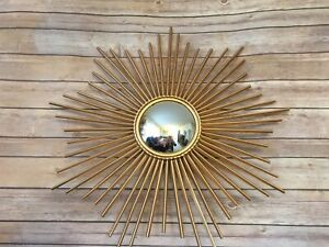 Horchow Global Views Sunray Starburst Mirror Gold MID CENTURY MODERN 9.90325