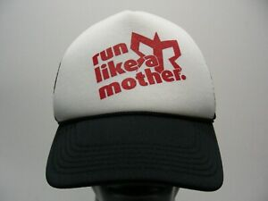 RUN LIKE A MOTHER - ONE SIZE ADJUSTABLE SNAPBACK BALL CAP HAT!