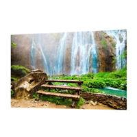 Attraente 3D Cascate Immagine Acquario Sfondo Poster / Acquario Paesaggio