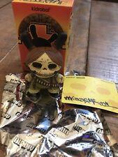 """New Kidrobot Azteca Series 2 Oscar Del Mar Guerilla Skull Dunny 2/25 3"""", Brown"""