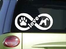 Fox Terrier Infinity sticker *H387* 4 x 8.5 inch vinyl dog love decal