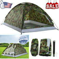 Waterproof 2-3 Person Outdoor Camping 4 Season Family Tent Camouflage Hiking