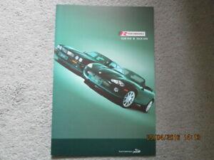NOS Jaguar XJR 100 XKR 100 R Performance Large Format Sales Folder 2001 XKR 100