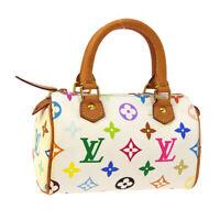 LOUIS VUITTON MINI SPEEDY 2WAY HAND BAG TH0063 PURSE MONOGRAM MULTI M92645 31068