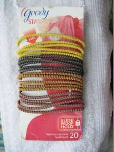 20 Goody Skinny Neutral Ouchless Stay Put Ponytailer Hair Bands Slide Proof 2009