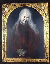ESTHER SOLONDZ Mixed Media Original Painting on Photograph ALICE Gilt Frame 1990