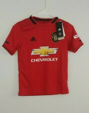 Adidas Manchester United boy'soccer jersey size small red NWT