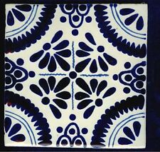"""Hand made 6""""x6"""" Mexican Talavera tiles, Classic 14 design, in overstock"""