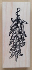 Wood Mounted Rubber Stamps, Southwest Stamps, Chili Peppers, Hot Pepper, Stamper