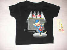 Paul Frank Boys T-Shirt Black 12 Months NWT Guitar Monkey Short Sleeve Tee Shirt