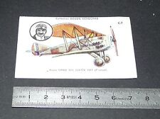CHROMO BOZON-VERDURAZ 1930-1939 AVIATION AVION CHASSE SPAD XIII 1917 FRONVAL
