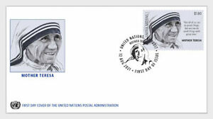 united nations 2021 onu un Mother Teresa 1910 1997 religion chatity peopl 1v FDC